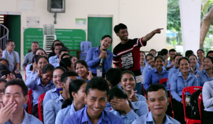 """""""See You Yesterday"""" Meets the Future –Cambodian cast leads workshops for 800 student teachers"""